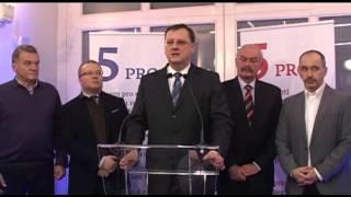Tisková konference ODS po vyhlášení výsledků 1. kola volby prezidenta republiky