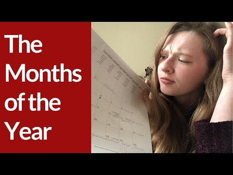MONTHS of the YEAR in BRITISH ENGLISH