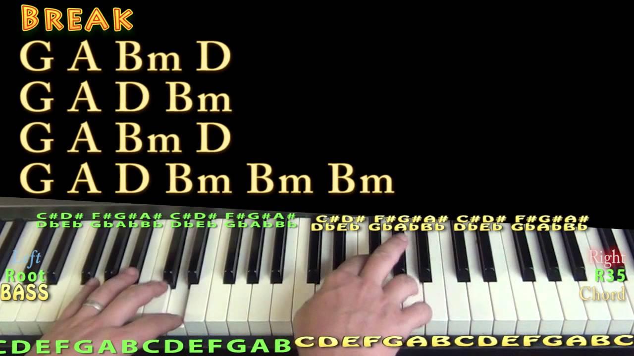 Firestone (Kygo) Piano Lesson Chord Chart - Bm A G D Em - YouTube
