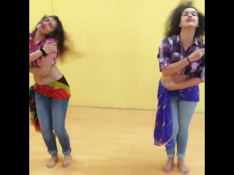 Two girls dance on hummaa hummaa song
