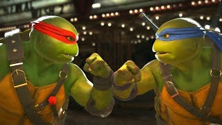 Injustice 2 - TMNT Raphael Vs Leonardo -  All Intro Dialogue/All Clash Quotes, Super Moves