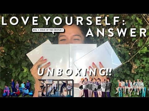 UNBOXING BTS 방탄소년단 LOVE YOURSELF: 結 ANSWER!! (S, E, L, F: 4 VERSIONS) ♡