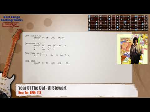 Year Of The Cat - Al Stewart Guitar Backing Track with chords and ...