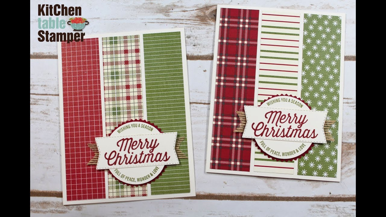 No longer LIVE...Stampin\' Up! Farmhouse Christmas Card Tutorial with Kitchen Table Stamper