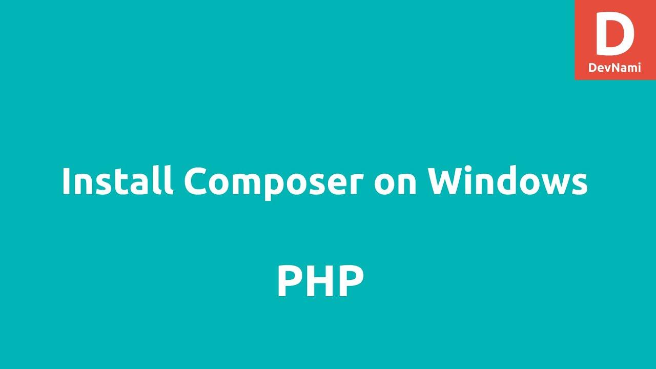 install composer windows globally