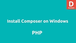 Install Composer on Windows
