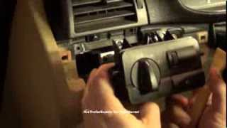 BMW 3 Series E46 Light Switch Module Removal And Installation