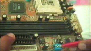 Jumper setting on board for Processor