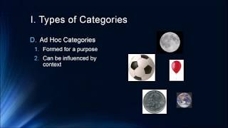 Cognition Lecture 7 2   Concepts and Categories