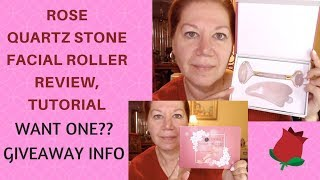 Smooth Wrinkles with Asian Rose Quartz Stone Facial Roller by Luximia | Tutorial | Immediate Results