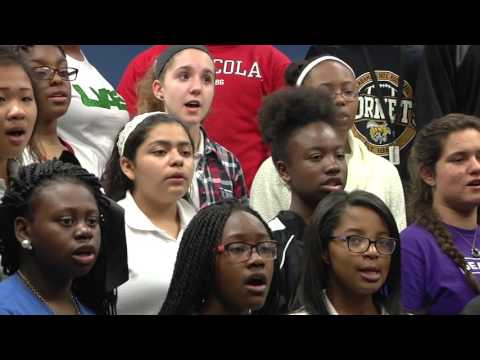 Carr Choir practices for Montgomery Music Festival