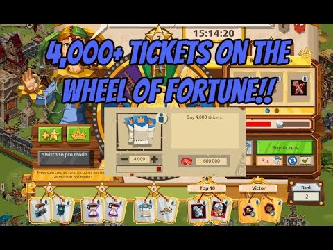 4,000+ Spins on the Wheel of Fortune in Goodgame Empire
