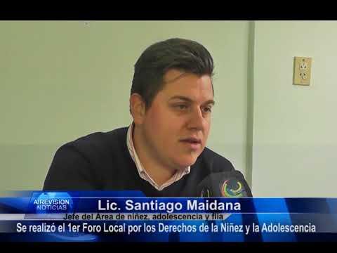 Santiago Maidana  Se realizó el Primer Foro Local por los Derechos de la Niñez y la Adolescencia