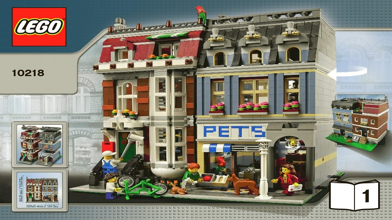 10218 lego pet shop creator expert instruction booklet. Black Bedroom Furniture Sets. Home Design Ideas