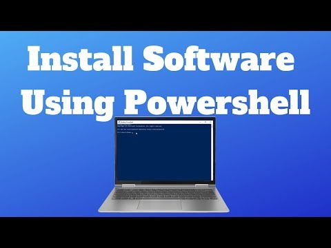 Install Software Using Powershell In Windows 10