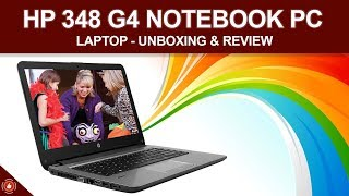 HP 348 G4 Notebook PC - Unboxing amp Review