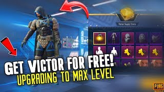 uPGRADING VICTOR TO MAX! How to get VICTOR For Free? PUBG Mobile | RK Gaming