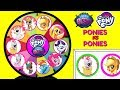 Littlest Pet Shop VS My Little Pony Spinning Wheel Game Punch Box Toy Surprises