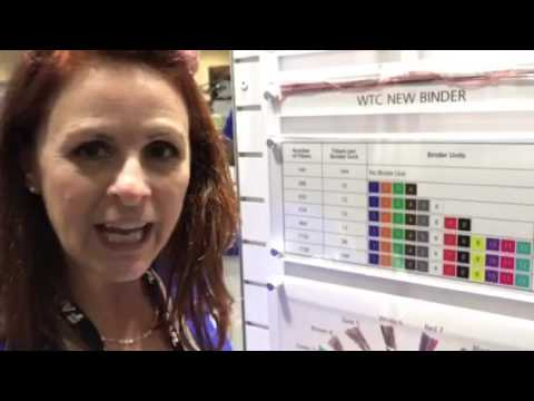 Louise talks wrapping tube cable with SWR at BICSI Winter 2017