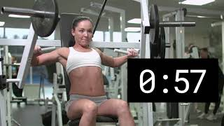 2 Minute Countdown Workout with Woman chest press (MUSIC)