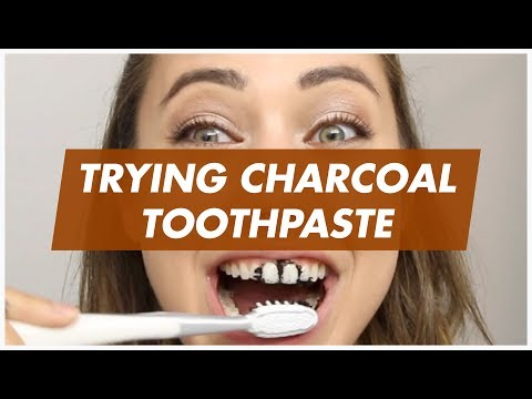 TRYING CHARCOAL TOOTHPASTE