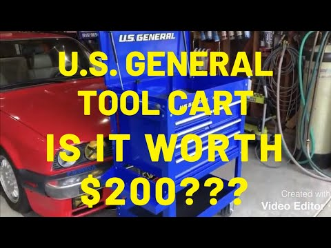 """U.S. General 30"""" 5 Drawer Mechanic's Cart from Harbor Freight is it worth $200?"""