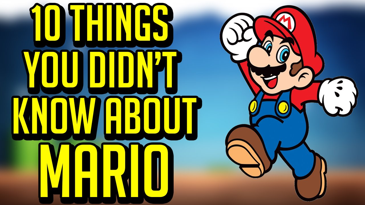 10 Things You Didn't Know About Mario - YouTube