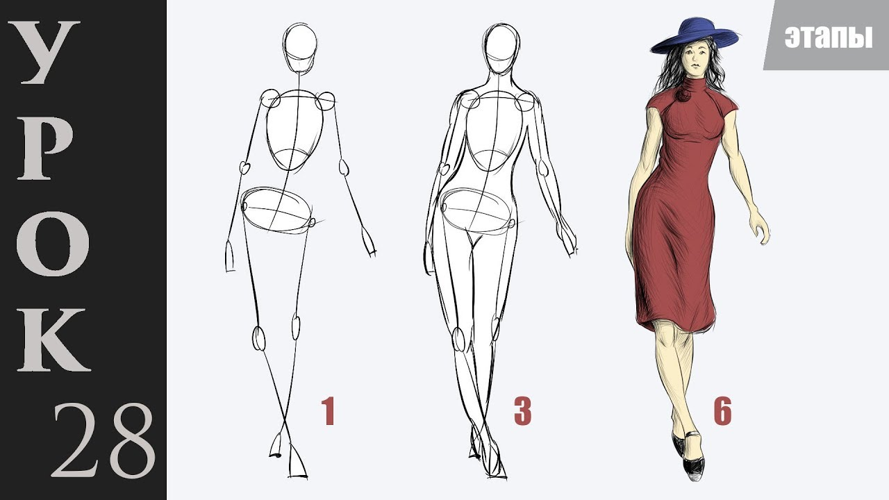 Как нарисовать человека в полный рост. Учимся рисовать тело и фигуру.