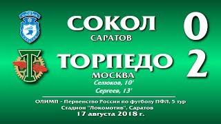 'Сокол'(Саратов) - 'Торпедо Москва' 0:2. Обзор матча