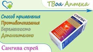 Сангива спрей (гексетидин, холіну саліцилат, хлорбутанол) свідчення, опис, відгуки