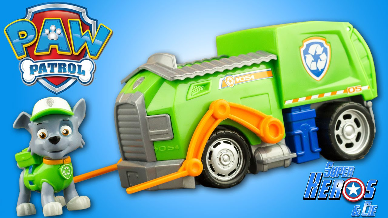 PAT PATROUILLE ROCKY RECYCLE TRUCK VEHICULE VEHICLE PAW PATROL