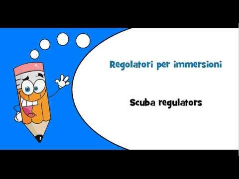 Italian words #Theme = Water sports equipment
