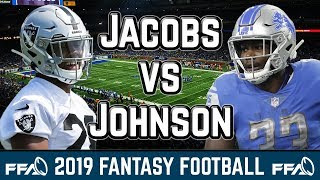 Kerryon Johnson vs Josh Jacobs | 2019 Fantasy Football Advice