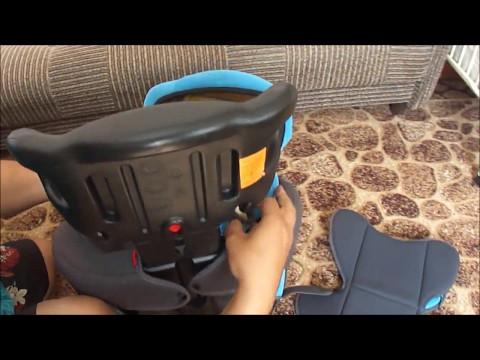 Как быстро разобрать детское автомобильное кресло для стирки