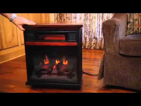 "Duraflame Spencer 20"" Premium Oak Portable Infrared Fireplace 20IF100GRA-O107"