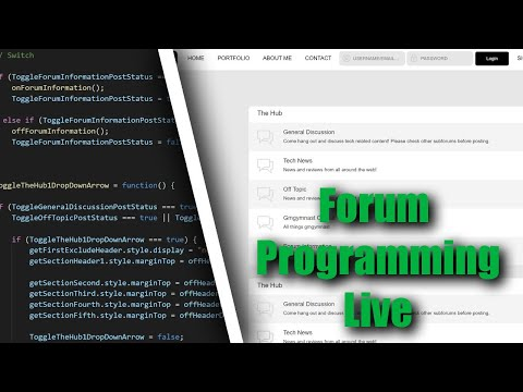 Creating A Forum Website From Scratch (HTML, CSS, JS, PHP, SCSS, VUE)