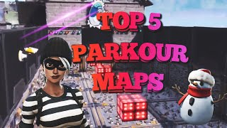 TOP 5 BEST PARKOUR/DEATHRUN MAPS ON FORTNITE (With Codes)-Fortnite Creative