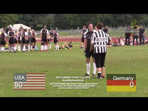 Quidditch World Cup 2016  USA vs. Germany  Pool Play