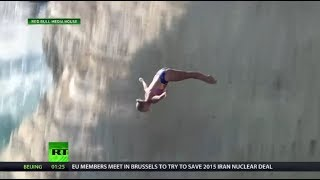 WATCH: First ever perfect score at Cliff Diving World Series