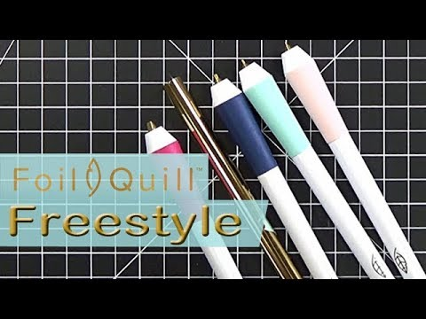 WRMK Foil Quill Freestyle Pens Demo