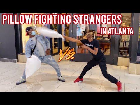 Pillow Fighting Strangers In Public 5! Atlanta Hood Edition