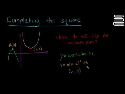 Leaving Cert Maths - Algebra 37 - Completing the Square 2