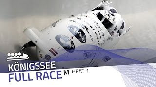 KÖnigssee | BMW IBSF World Cup 2015/2016 - 4-Man Bobsleigh Heat 1 | IBSF Official