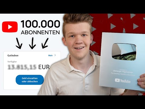 Wie Viel Verdiene Ich Mit 100.000 YouTube Abonnenten? 🤫 thumbnail