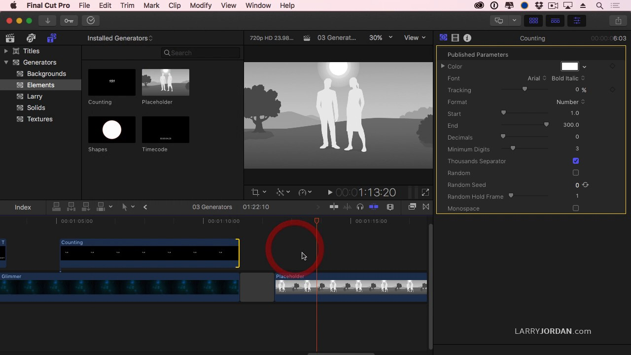 How To Create Generator Effects In Final Cut Pro X