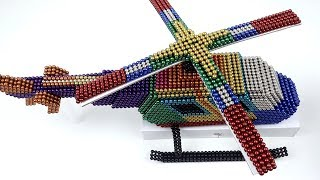 DIY How To Make Rainbow Helicopter with Magnetic Balls | 100% Satisfaction Magnetic Balls