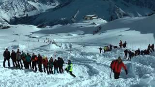 Exercice Avalanche Chamonix-La Flégère 2014