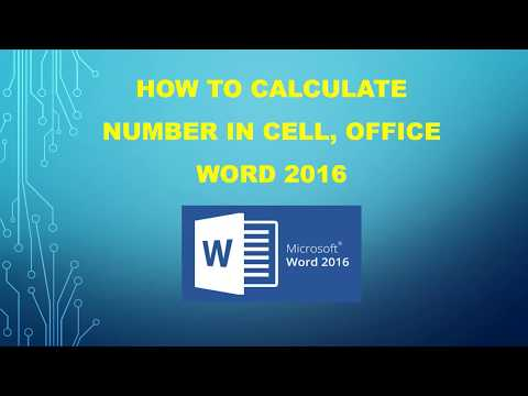 How to Sum a Column or Row of Numbers in Office  Word 2016