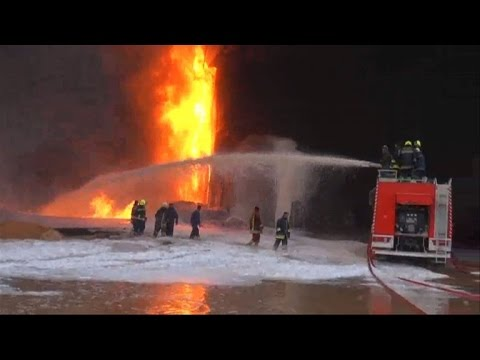 Firefighters battle Libya oil facility blaze