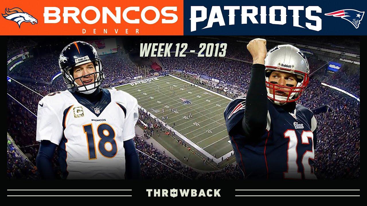 Brady S Epic 24 Point Comeback Vs Manning Broncos Vs Patriots Week 12 2013 Youtube